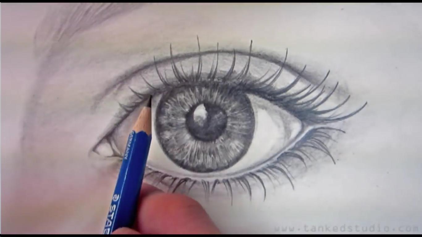 Tegne øye